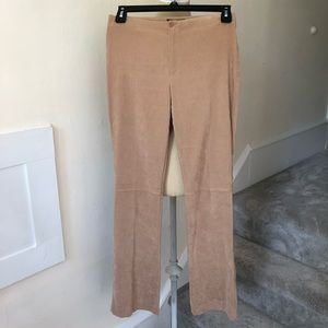 Zara Basics Fall/Winter Faux Suede Flare Pants EUC